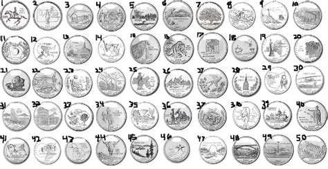 printable state quarter map collect all 50 state quarters bucket list of things to