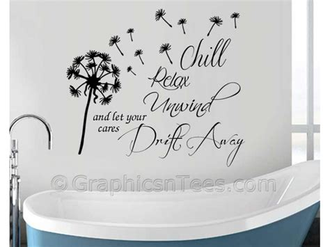 bathroom wall decals quotes chill relax unwind bathroom wall sticker inspirational