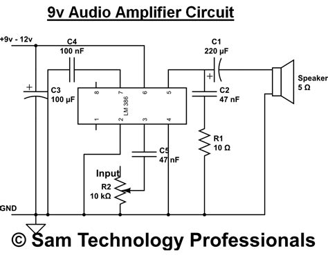 simple stereo lifier circuit diagram sam technology professionals simple and high quality