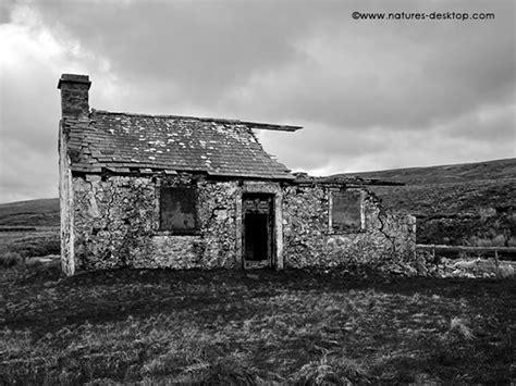 cottages in moors derelict cottage on moors desktop backgrounds