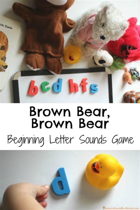 brown bear beginning letter sounds game inspiration laboratories
