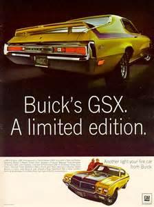 Buick Advertising 1970 Buick Gsx Advertisement