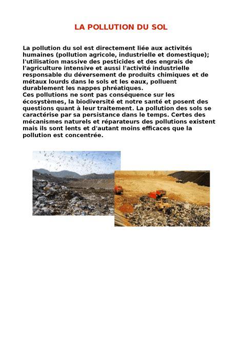 testo sull inquinamento ricerca di francese l inquinamento suolo docsity