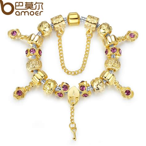 aliexpress buy bamoer original 14k gold plated