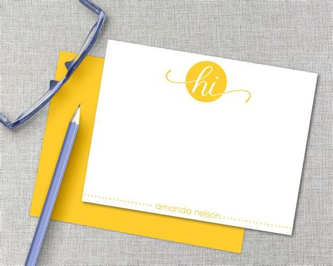 personalized note card template 25 best ideas about personalized stationery on