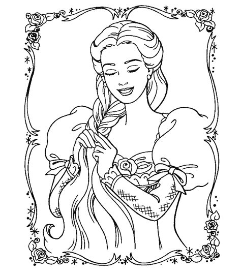 Coloring Pages Of Princess Barbie | barbie princess coloring pages fantasy coloring pages