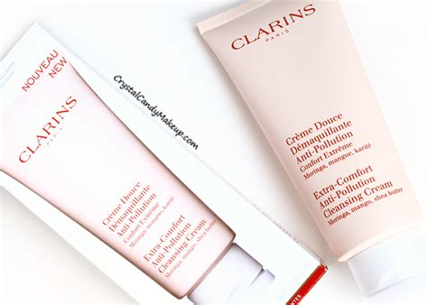 clarins extra comfort cleansing cream crystal candy makeup blog review swatches clarins