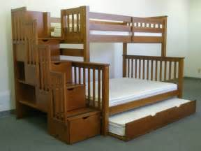Trundle Bunk Bed With Stairs Save Big On Stairway Bunk Bed With Trundle Light Brown