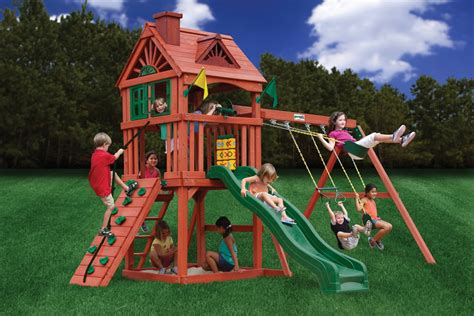 wooden swing sets on sale lowest price gorilla nantucket playset swingset paradise
