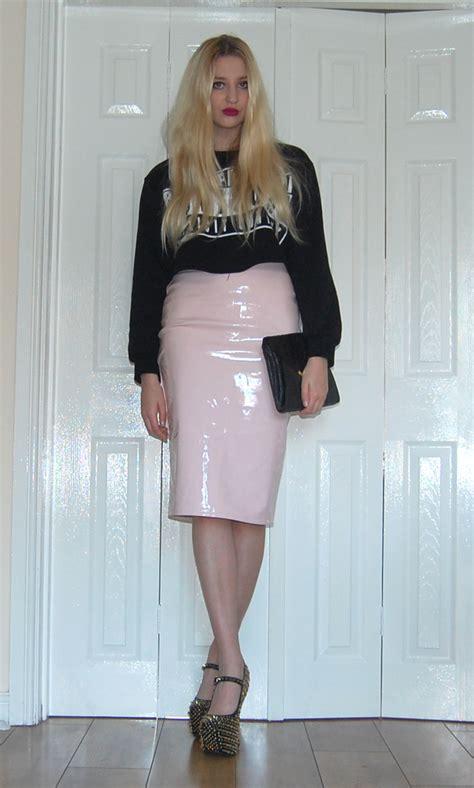 the pink pvc pencil skirt the fashion uk