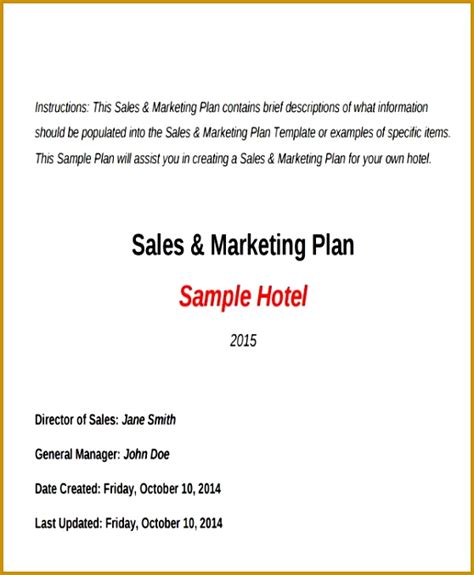 sle business plan hotel pdf 3 hotel marketing plan pdf fabtemplatez