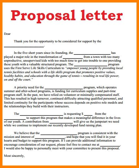 11 how to write proposal letter sle ledger paper