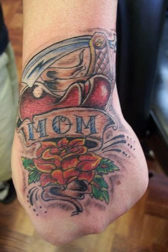 Collection Of 25 Mom Heart Tattoo Design On Hand 37 Tattoos Will Fill