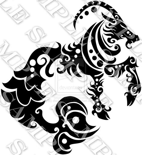capricorn tribal tattoo capricorn images designs