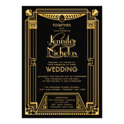 gatsby wedding invitations uk great gatsby invitations announcements zazzle co uk