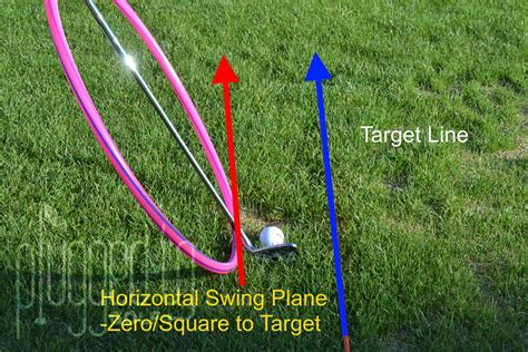 trackman swing plane horizontal swing plane plugged in golf