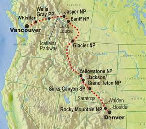 the rockies canada map tours of the rockies rocky mountain holidays tours