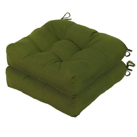 Patio Cushions Green Greendale Home Fashions Set Of Two 20 Quot Outdoor Chair