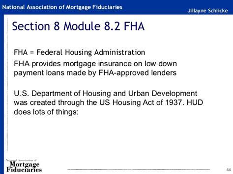 section of the act fha 20 hour safe loan originator pre licensing 2016 2017 slides
