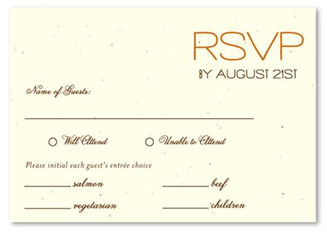 response card template 6 per page plantable paper rsvp cards on seeded paper sacred