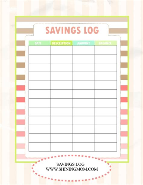savings planner template save money use our free budget binder
