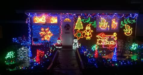 see the first houses with christmas lights in newcastle