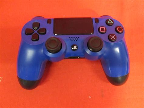 broken dualshock  wireless controller wave blue ps