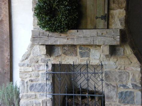 outdoor fireplace mantels hewn beam for an outdoor fireplace mantle