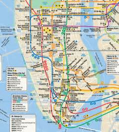 A Map Of New York City by New York City Map Nyc Tourist