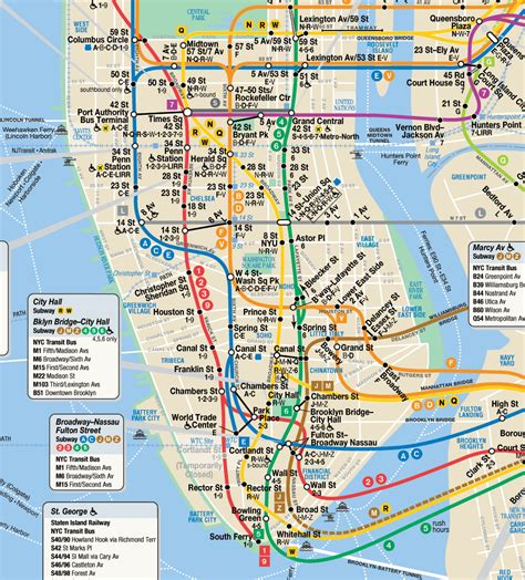 subway map in nyc new york city subway map printable new york city map