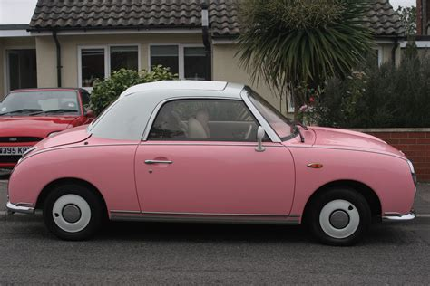 pink nissan saying goodbye to my pink nissan figaro right from the start