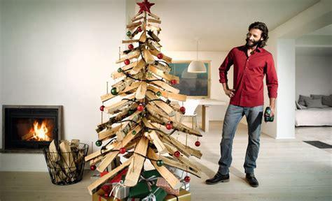 fachwerk innen dekorieren tannenbaum aus holz bauen selbst de