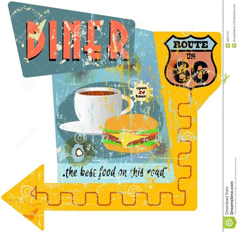 Yellow Black And White Kitchen - route 66 diner sign stock image image of angle fast 35837247