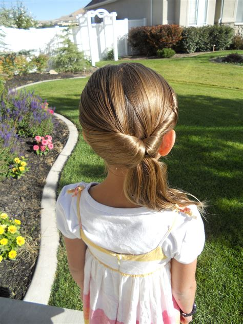 little girl hairstyles easy to do cute twistback flip under girls hairstyles cute girls
