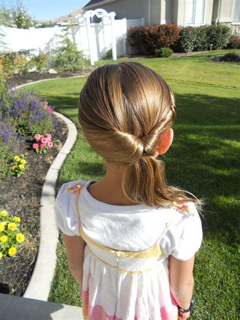 cute twistback flip  girls hairstyles cute girls