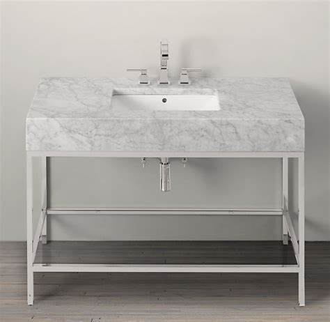exclusive bathroom sink with metal console useful