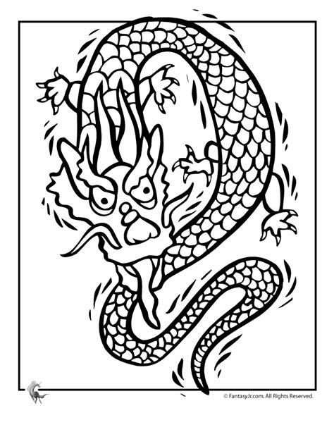 free coloring pages of chinese dragons chinese dragon coloring pages coloring home