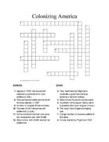 historical maps america crossword puzzle answers free printable crossword puzzles for colonizing