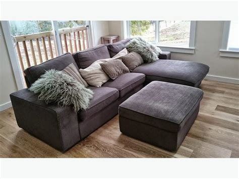 sectional sofa with chaise and ottoman like new ikea kivik loveseat sofa with chaise matching