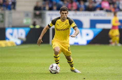 christian pulisic vs hoffenheim rumor borussia dortmund winger christian pulisic wanted