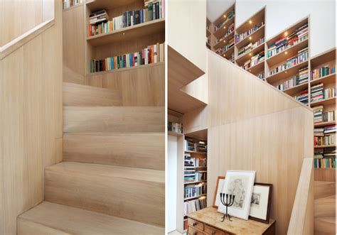 stair bookcase nine clever designs that integrate storage with stairs