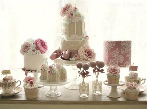 shabby chic vintage sweet table candy table with