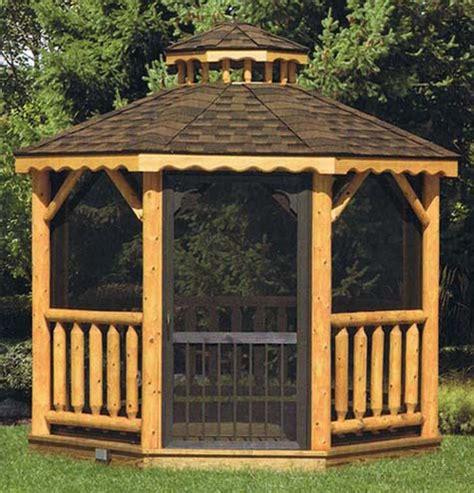 Log Gazebo Millwood Woodworking Log Gazebos Backyard Designs Unlimited