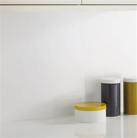 White Glass Effect backboard   Kitchen worktop backboards