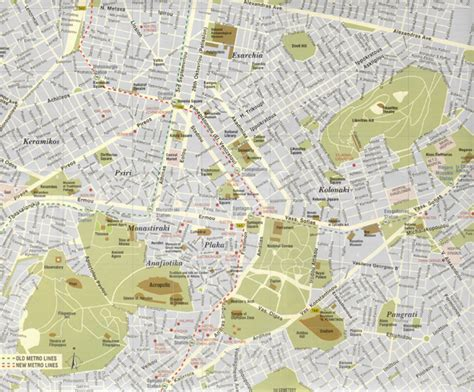 athens map athens center map greece