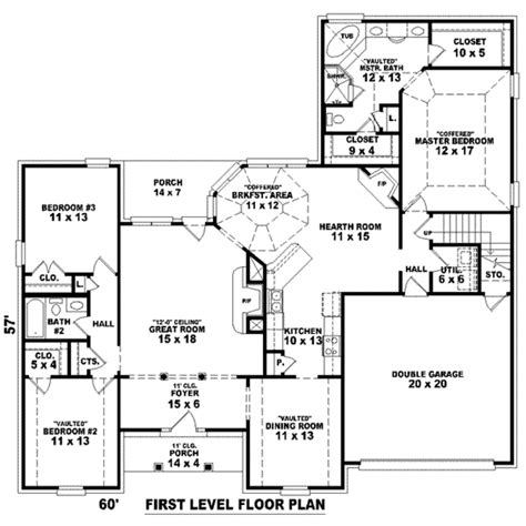 southern style floor plans southern style house plan 3 beds 2 baths 2485 sq ft plan