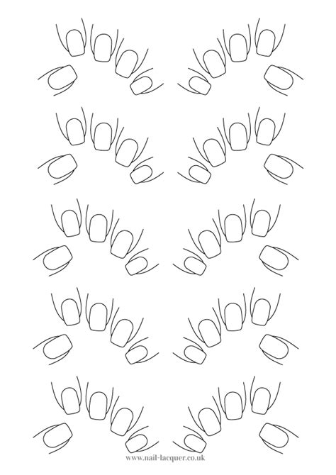 Nails Template nail template nail lacquer uk