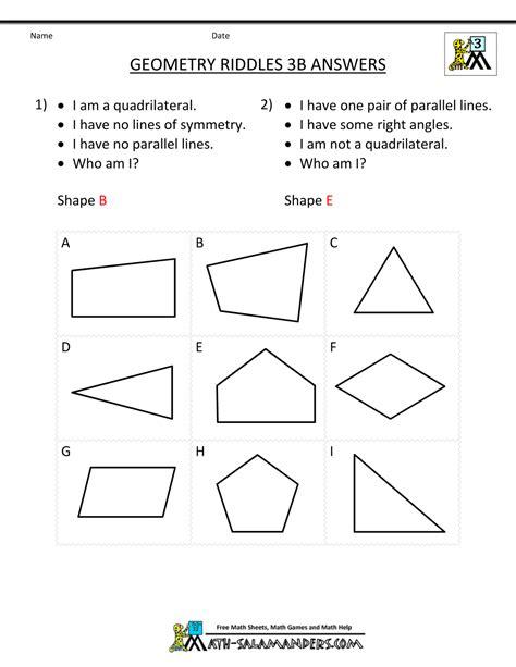 Pdf Geometry Worksheets by Geometry Worksheets Riddles