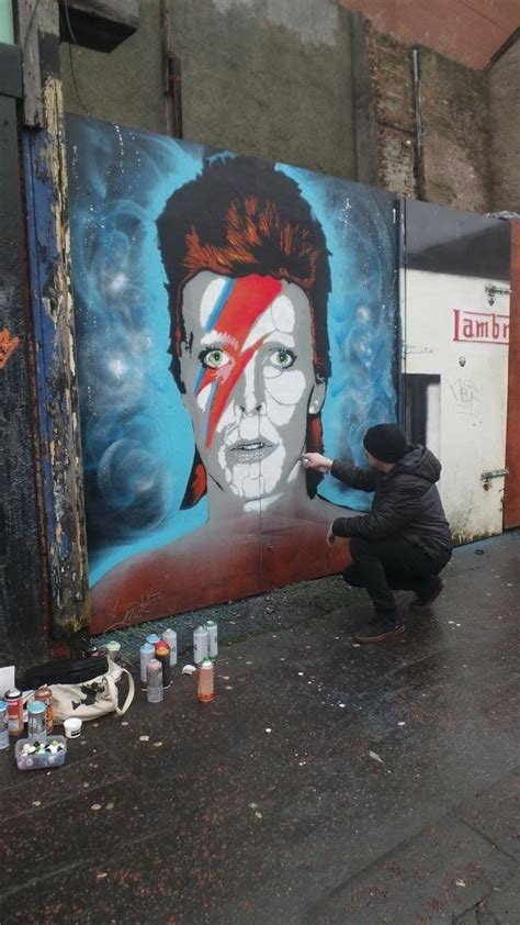 spray painter belfast david bowie portrait belfast visual waste
