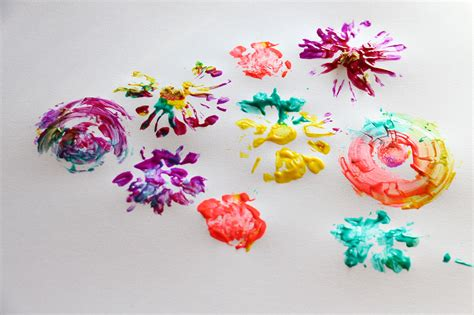 Flower Print   Scrape Painting ? Playful Learning